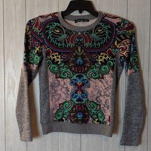 EUC Zara LXFG colorful sweater sz Sm